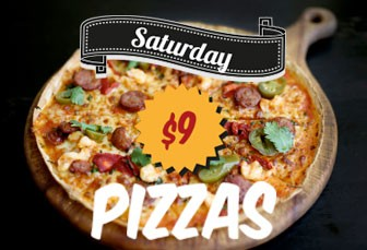 SATURDAY: $9 Pizza