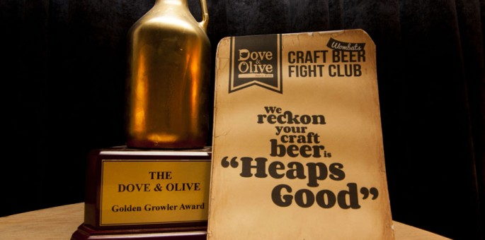 The Golden Growler Award – Craft Beer Fight Club at Dove & Olive