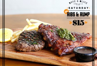 SATURDAY: $15 RIBS & RUMP