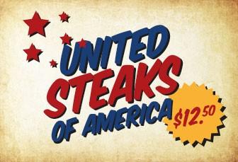 WEDNESDAY: AMERICAN RUMP STEAKS $12.50