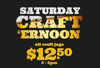SATURDAY: $12.50 ALL CRAFT BEER JUGS